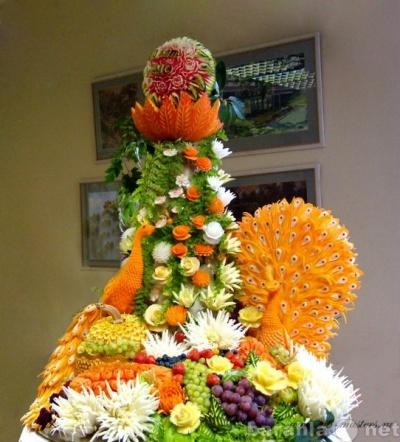 Фото осенняя композиция из овощей и